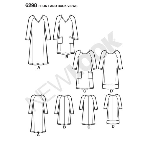 newlook-dresses-pattern-6298-front-back-view