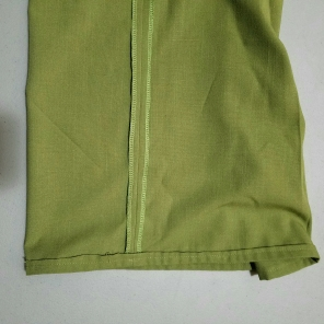 "1/2"" double folded hem"