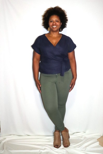 Paired with olive green Old Navy Pixie pants